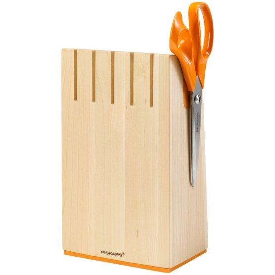 Knivblok i birketræ med 5 knive