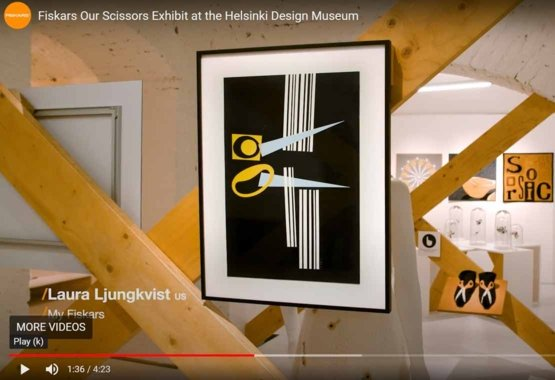 Udstilling af vores sakse på Helsinki Design Museum VIDEO