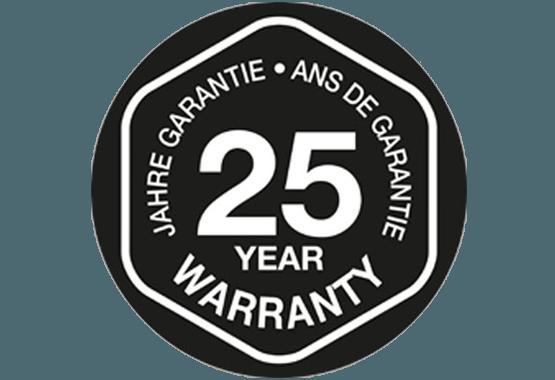 Tilmeld dig og få 25 års garanti