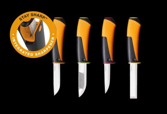 Ny serie af knive med fast blad og integreret knivsliber