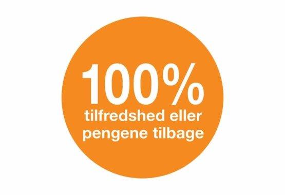 100% Tilfredshedsgaranti