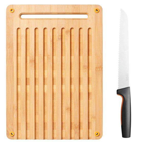 Functional Form Skærebræt i bambus og knivsæt