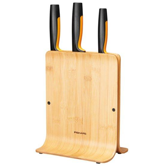 Functional Form Knivblok i bambus med 3 knive