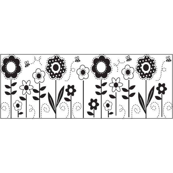 Kontinuert stempel - Blomster